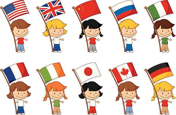 world flags - russian flag stock illustrations, clip art, cartoons, & icons