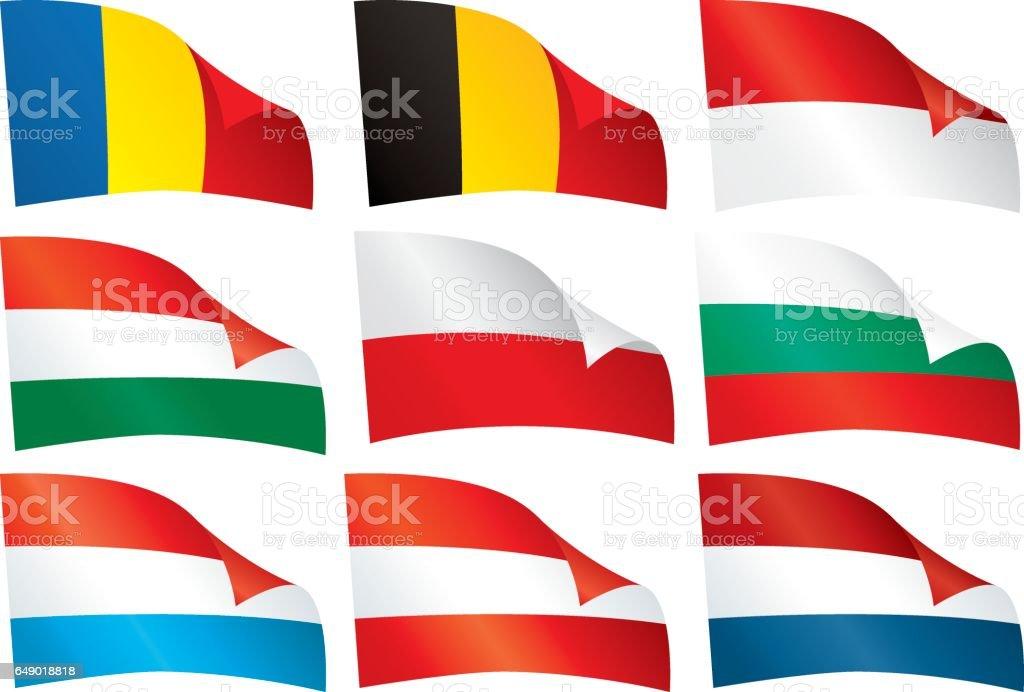 Welt-Flaggen. – Vektorgrafik