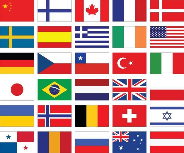 welt-flaggen - flagge polen stock-grafiken, -clipart, -cartoons und -symbole