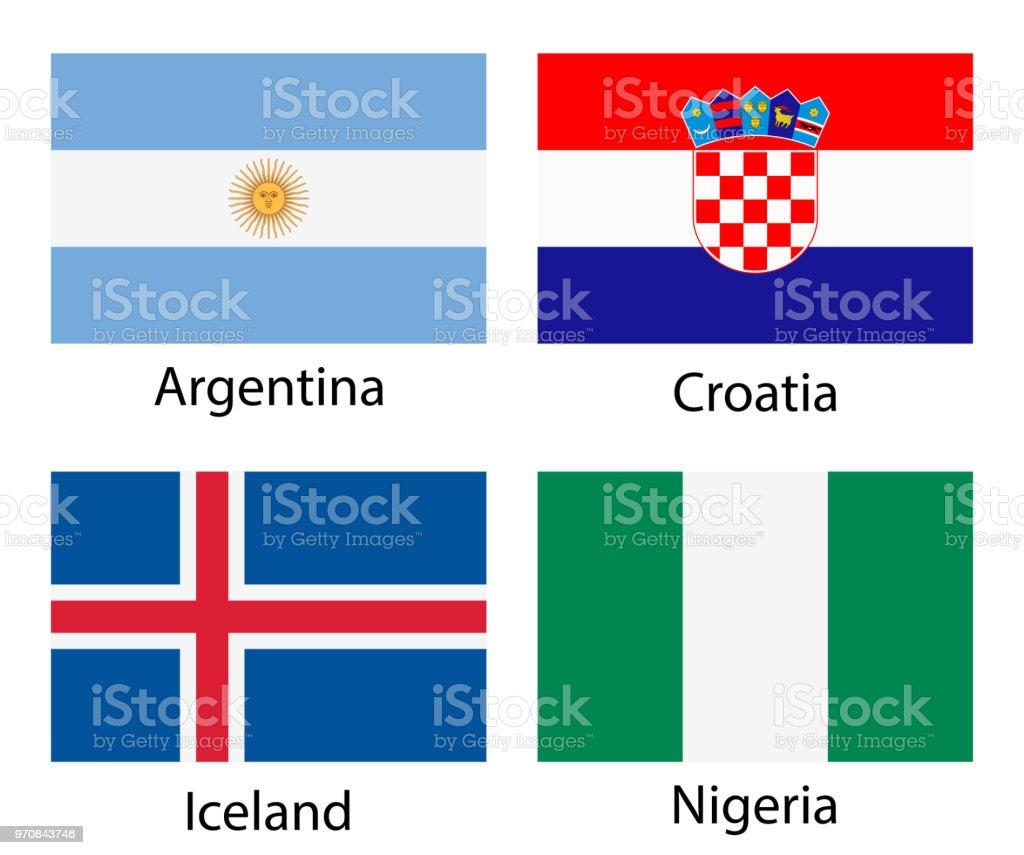 Mundo flags - ilustración de arte vectorial