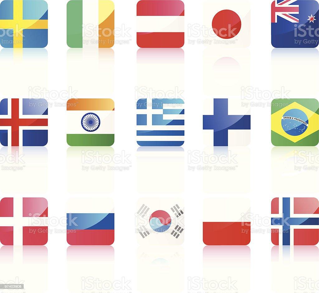 World flags royalty-free stock vector art