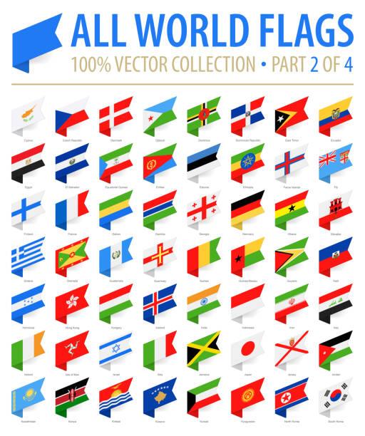 ilustraciones, imágenes clip art, dibujos animados e iconos de stock de mundo banderas - vector etiqueta isométrica iconos plana - parte 2 de 4 - bandera finlandesa
