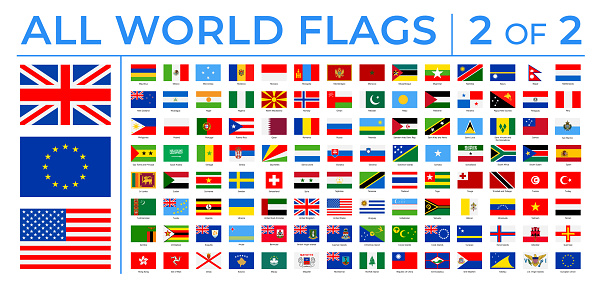 World Flags - Vector Rectangle Flat Icons - Part 2 of 2