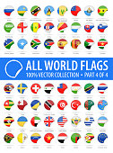 World Flags - Vector Round Corner Glossy Icons - Part 4 of 4