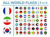 World Flags - Vector Round Flat Icons - Part 2 of 4