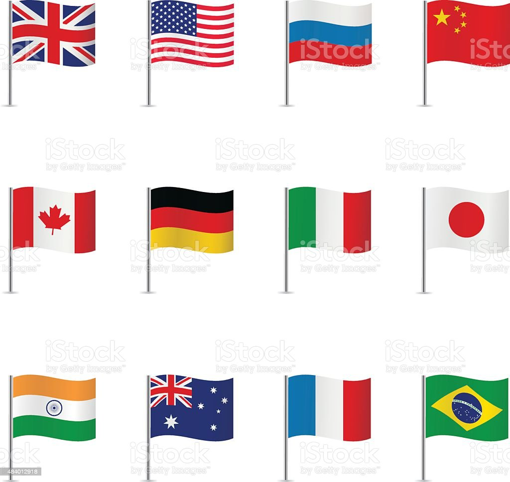World flags. Vector set. vector art illustration