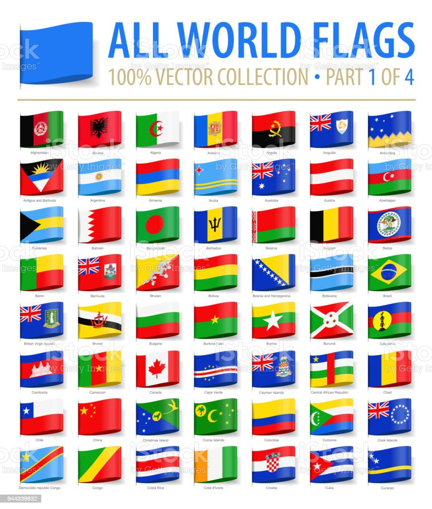 World flags vector tag label flat icons part 1 of 4 stock vector art world flags vector tag label flat icons part 1 of 4 royalty free gumiabroncs Images
