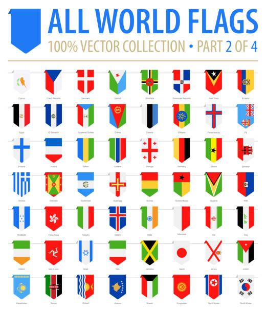 ilustraciones, imágenes clip art, dibujos animados e iconos de stock de mundo banderas - vector marcador vertical plana iconos - parte 2 de 4 - bandera finlandesa