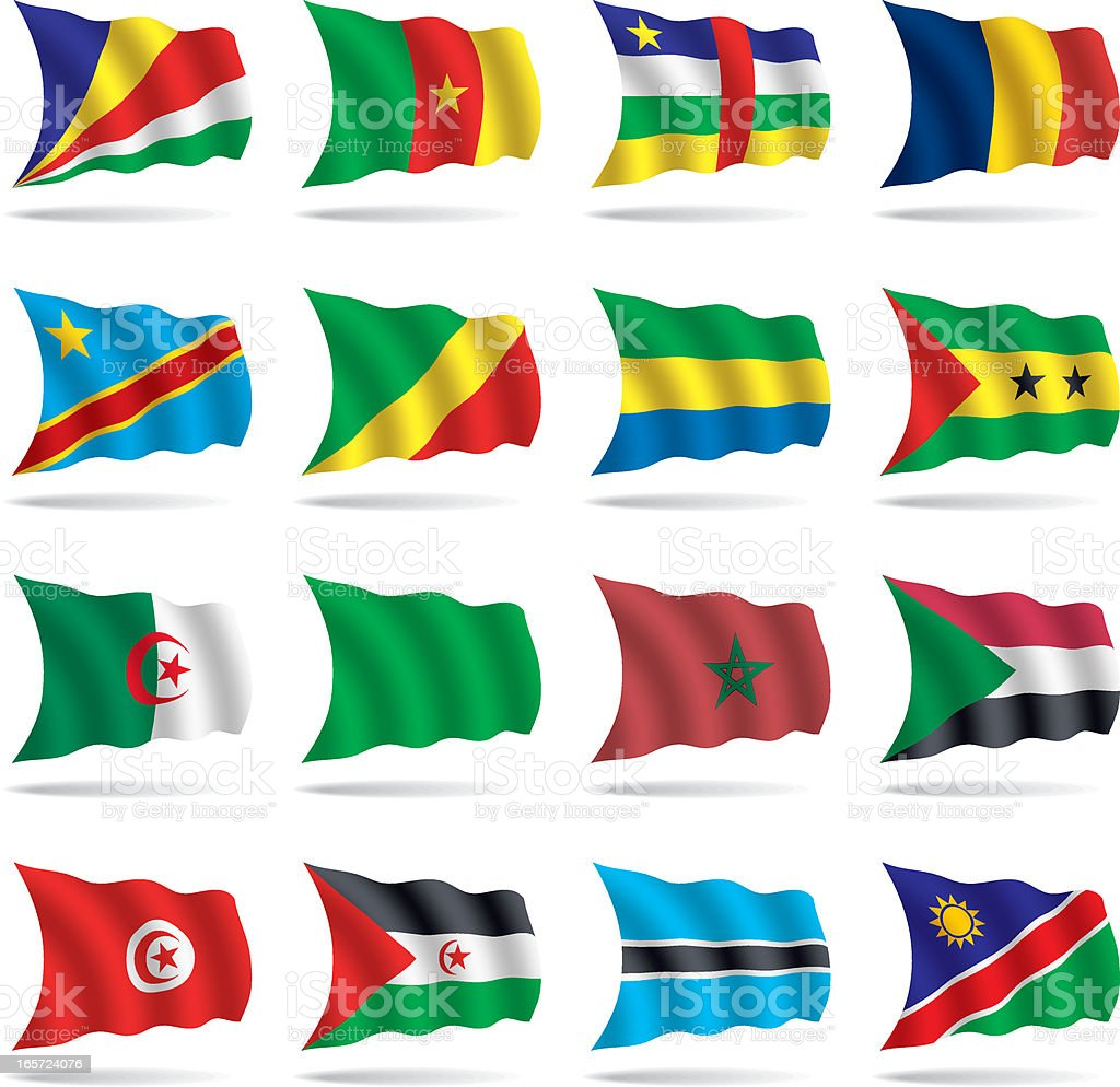 World flags waving royalty-free world flags waving stock vector art & more images of africa