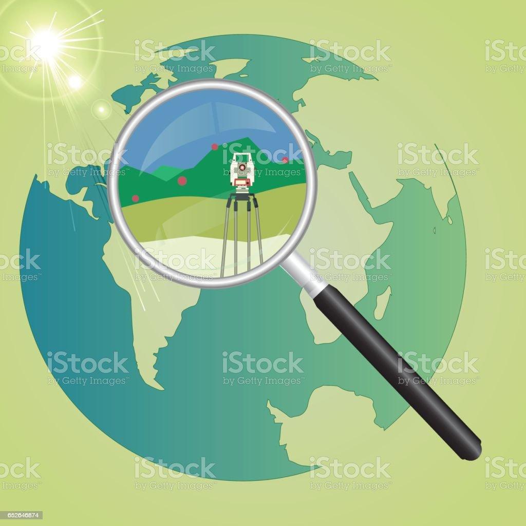 Système géodésique mondial - Illustration vectorielle