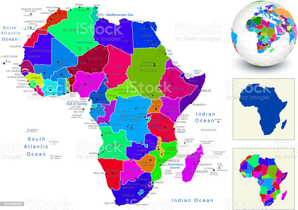 World Geography Africa Stock Illustration Download Image Now Istock