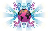 World globe design