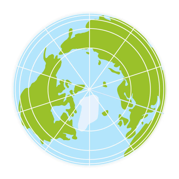 world globe icon. vector earth logo. web global simbol illustration world globe icon. vector earth logo. web global symbol with grid north pole stock illustrations