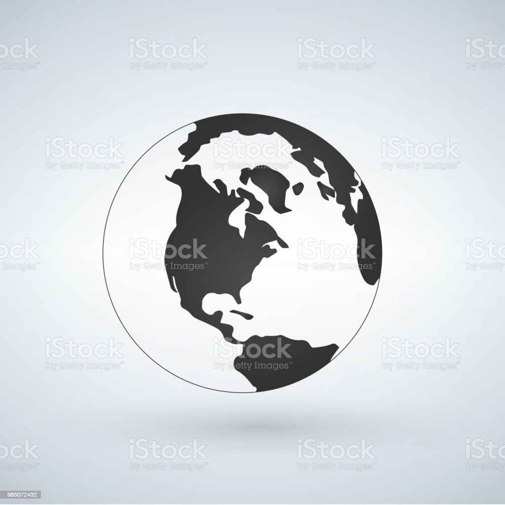 US world globe icon, vector illustration isolated on white background. royalty-free us world globe icon vector illustration isolated on white background stock vector art & more images of abstract