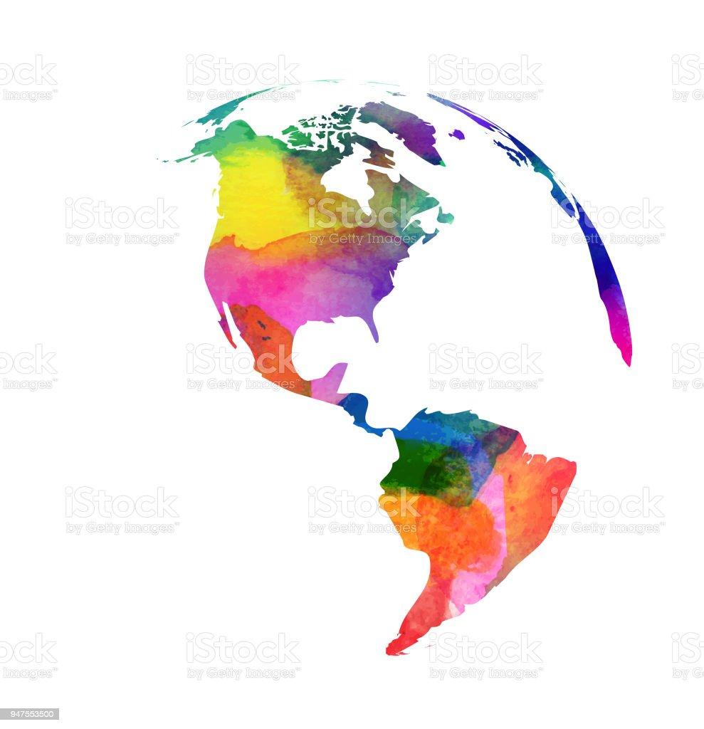 Dünya Dünya Su Renk Tarzı Stok Vektör Sanatı Abdnin Daha Fazla