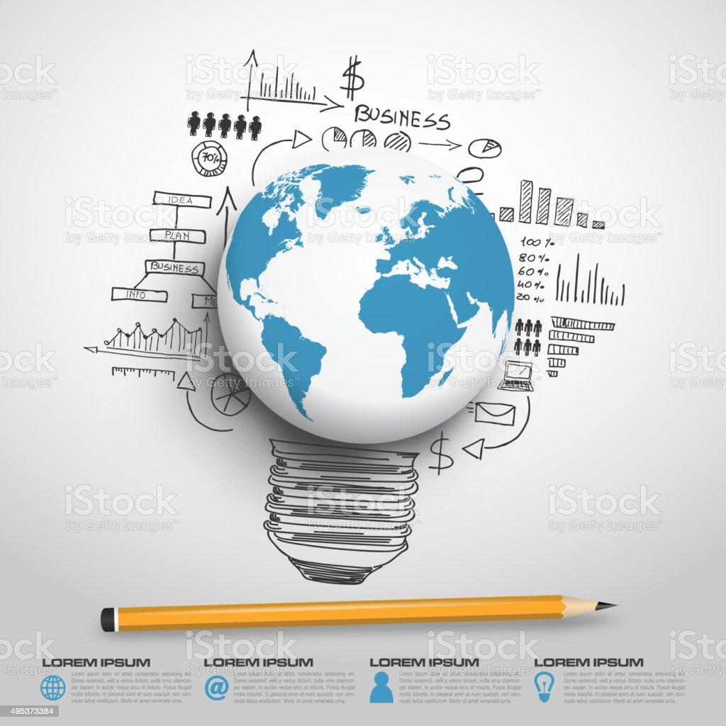Monde monde infographie vectorielle - Illustration vectorielle