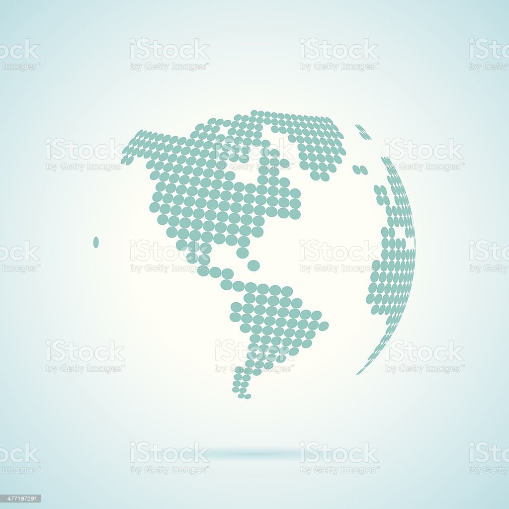 A world globe map made up of dots stock vector art more images of a world globe map made up of dots royalty free a world globe map made gumiabroncs Choice Image