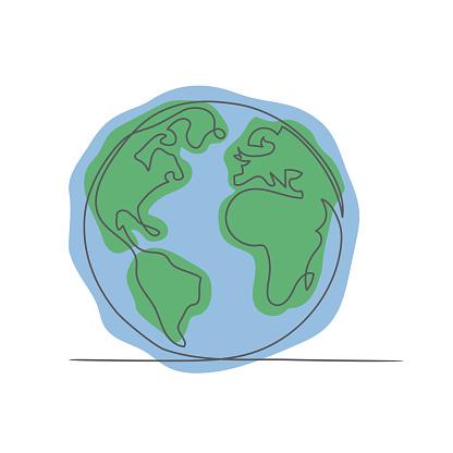 World Globe Maps on white background.