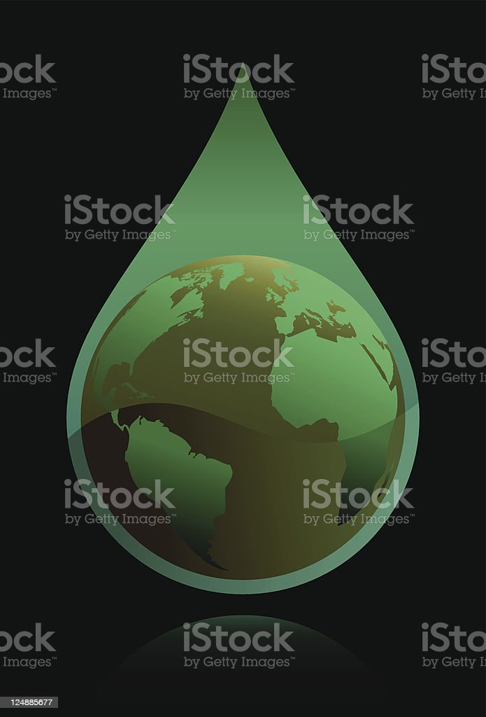 World Globe Polluted Drop Vector royalty-free world globe polluted drop vector stock vector art & more images of air pollution