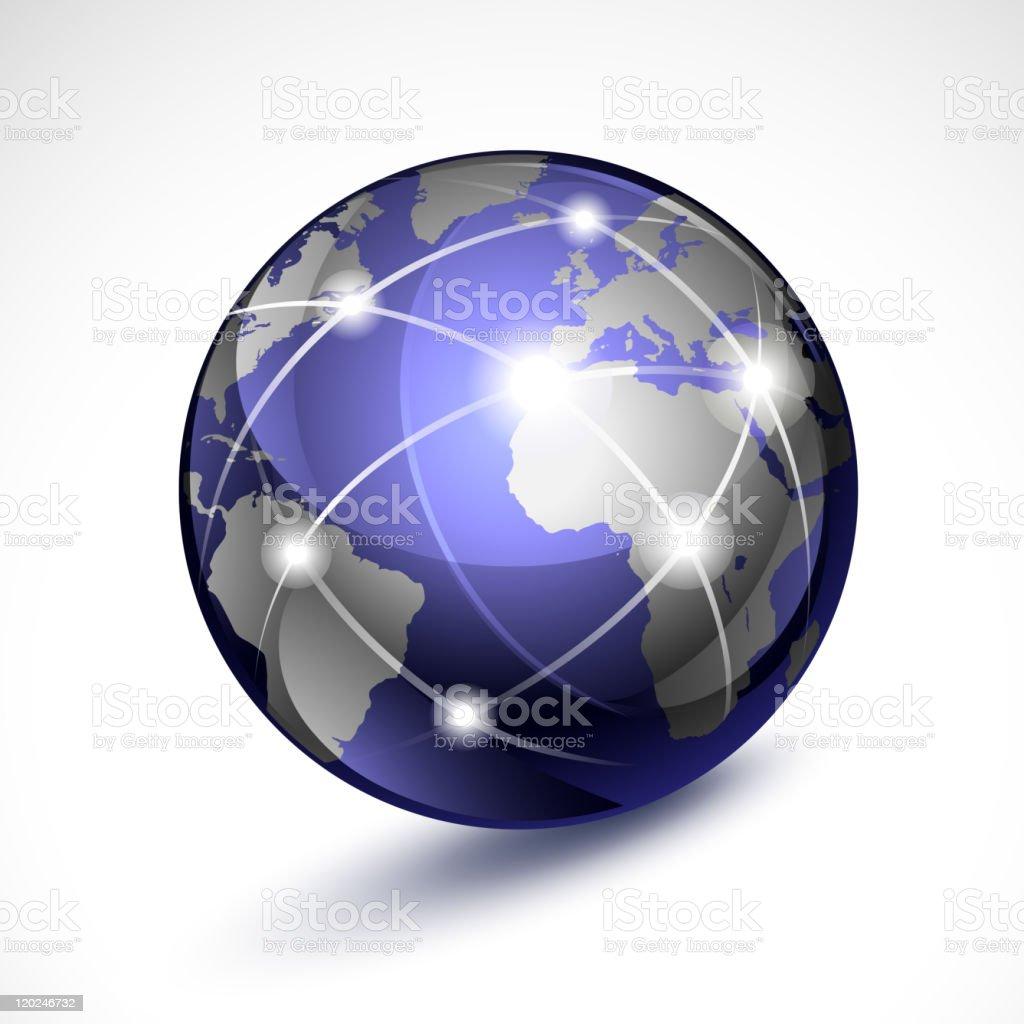 World globe - Royalty-free Business stock vector