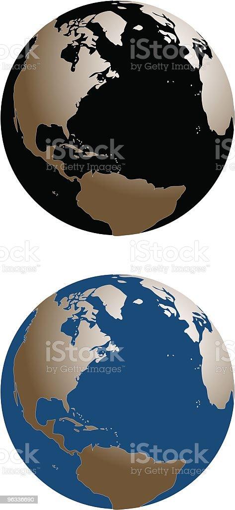 World Globe royalty-free world globe stock vector art & more images of atlantic ocean