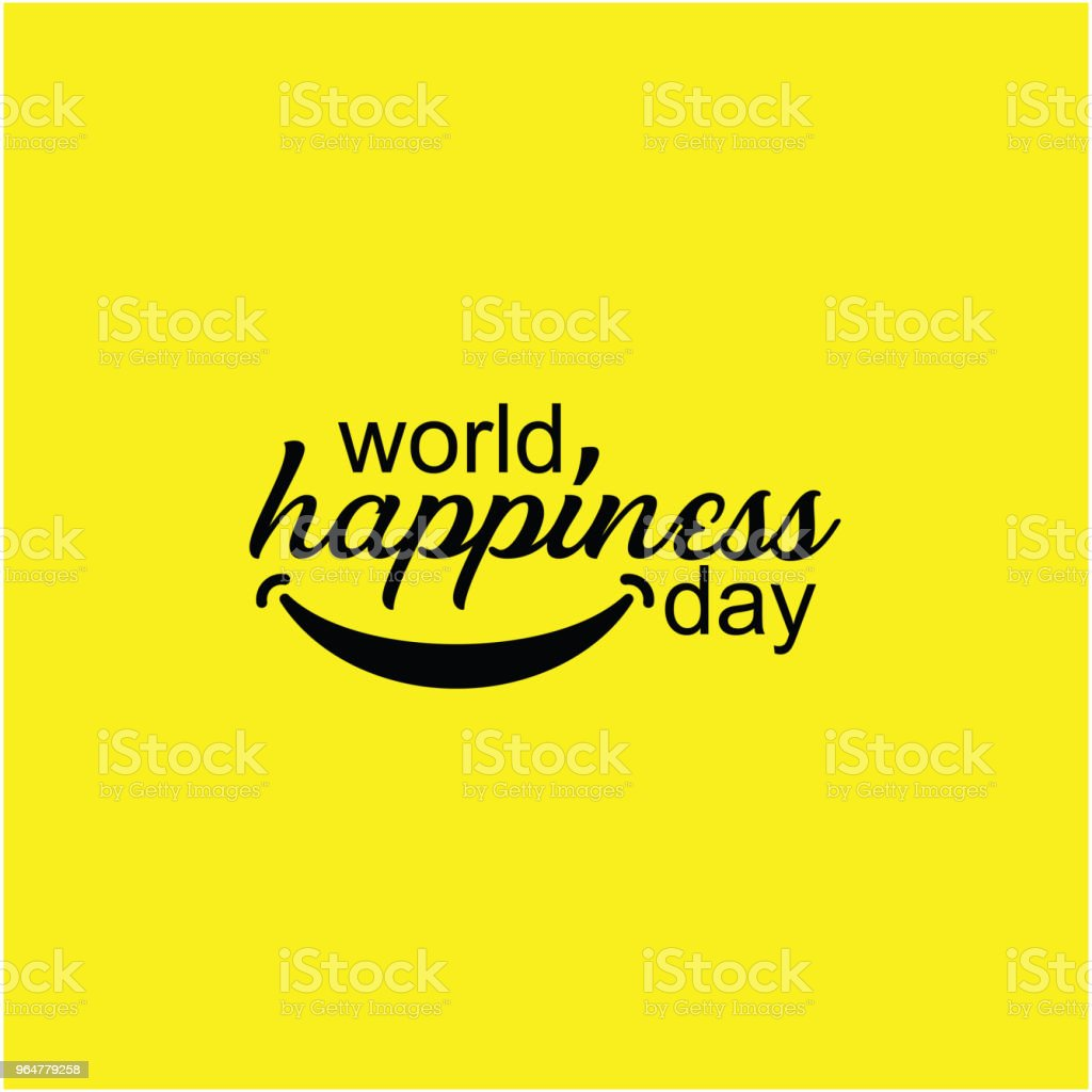 World Happiness Day Vector Template Design royalty-free world happiness day vector template design stock vector art & more images of cheerful