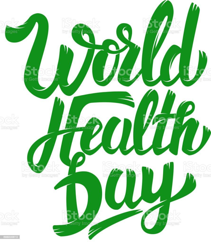 Vetores De Dia Mundial Da Saúde Mão Desenhada Letras Frase
