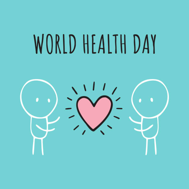 World health day. Hand-drawn illustrations. Vector background World health day. Hand-drawn illustrations world health day stock illustrations