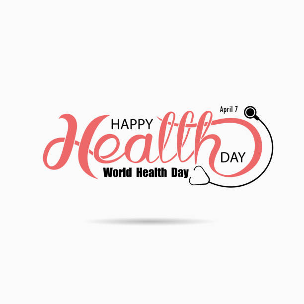 World Health Day Typographical Design Elements. World Health Day lettering icon.World Health Day logotype symbol.Design for greeting Card,Poster,Flyer,Cover,Brochure,Abstract background.Vector illustration World Health Day Typographical Design Elements. World Health Day lettering icon.World Health Day logotype symbol.Design for greeting Card,Poster,Flyer,Cover,Brochure,Abstract background.Vector illustration world health day stock illustrations