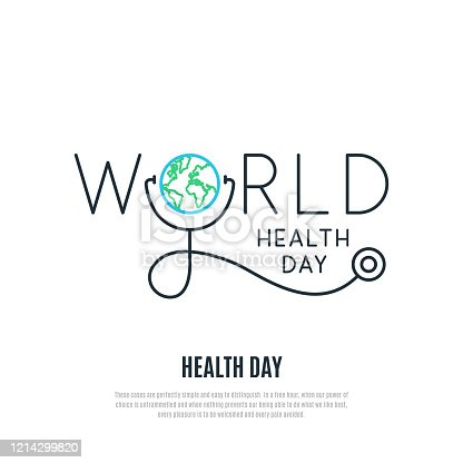 istock World Health Day vector banner. Health care concept design. Healt day emblem. Stock vector illustration for web, mobile apps and print products. 1214299820