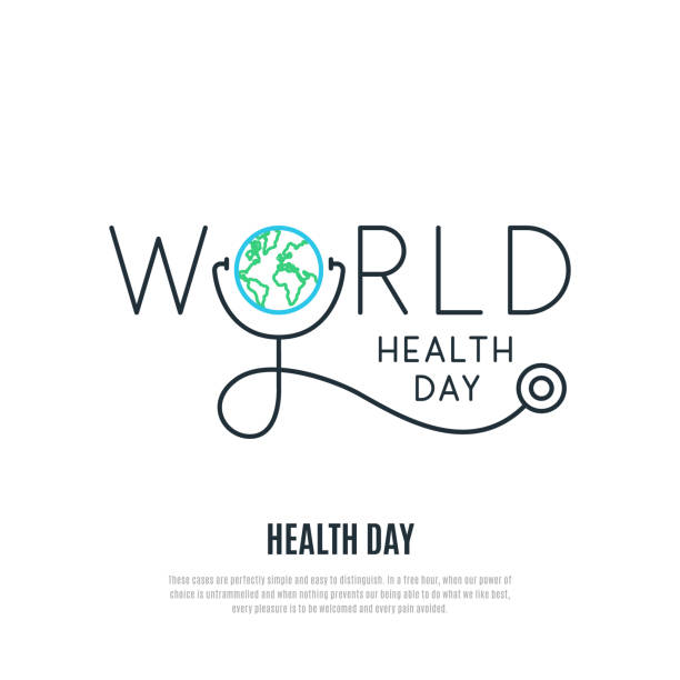 World Health Day vector banner. Health care concept design. Healt day emblem. Stock vector illustration for web, mobile apps and print products. World Health Day vector banner. Health care concept design. Healt day emblem. Stock vector illustration for web, mobile apps and print products. world health day stock illustrations