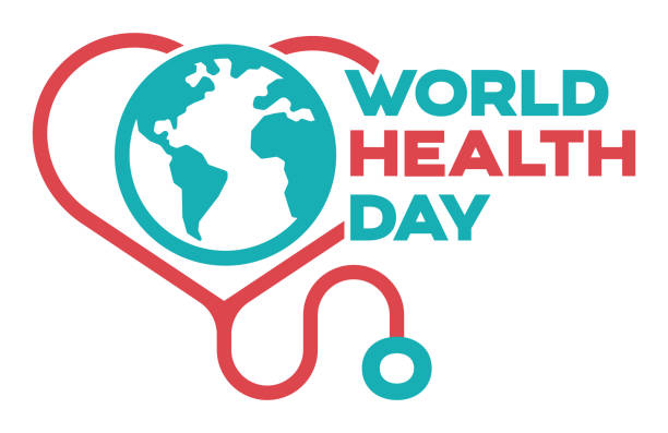 World Health Day World health day symbol concept. world health day stock illustrations