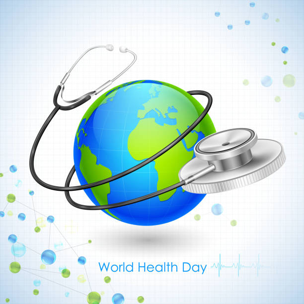 World Health Day illustration of concept for World Health Day world health day stock illustrations