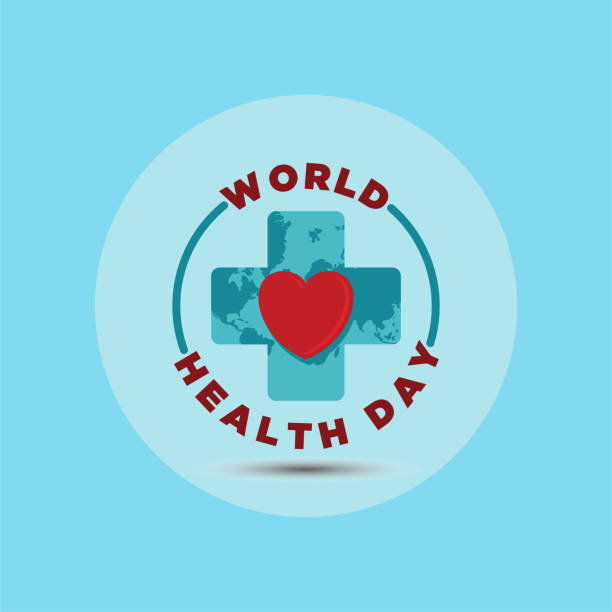 World health day vector illustration World health day vector illustration. 7 april. medicine and healthcare. isolated on white background world health day stock illustrations