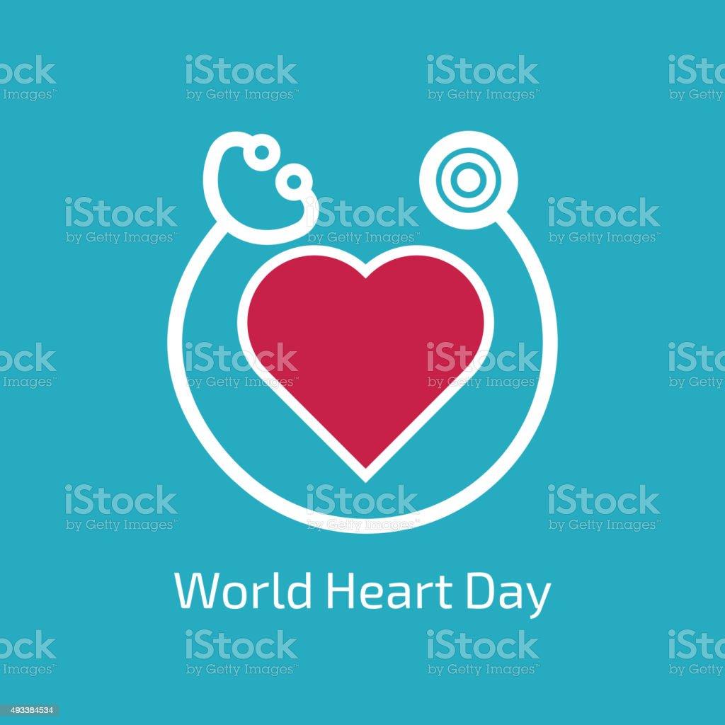 World Heart Day vector art illustration