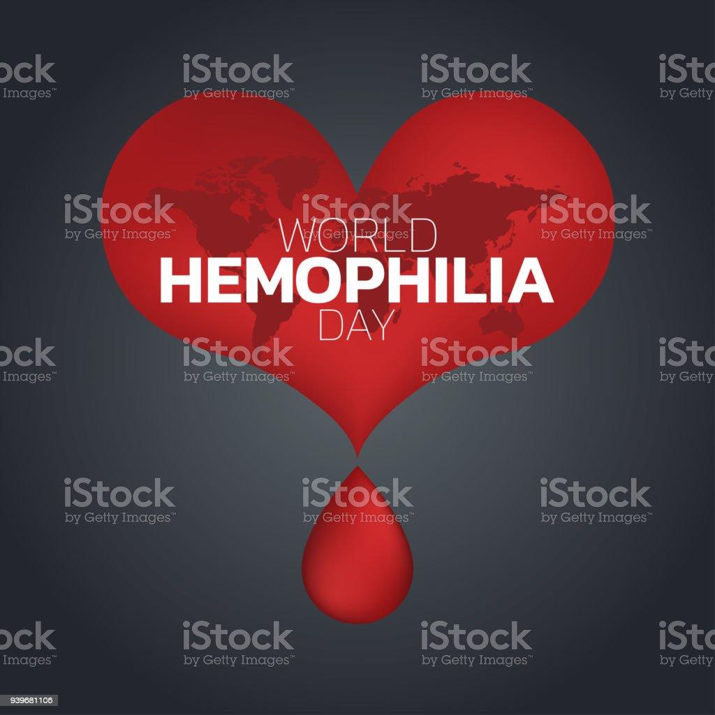 World Hemophilia Day logo icon design, vector illustration vector art illustration