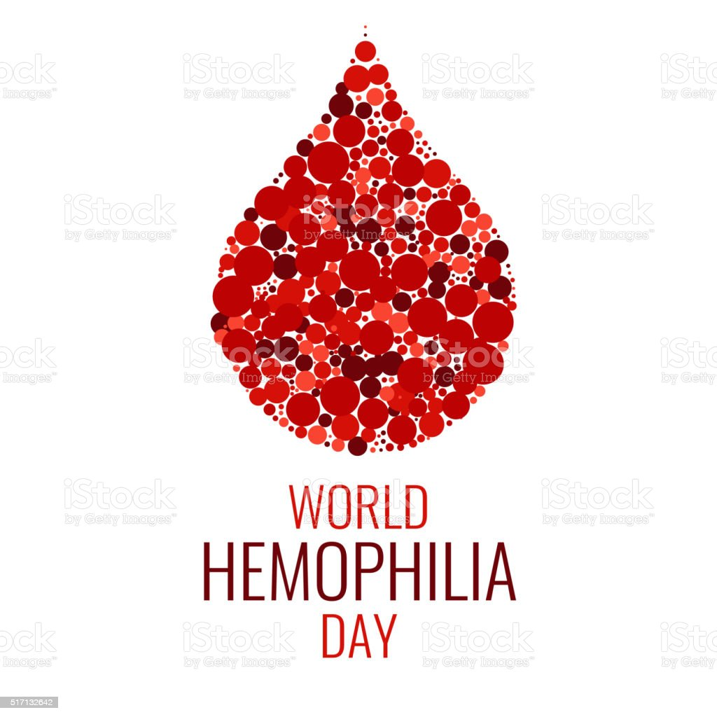 World Hemophilia Day vector art illustration