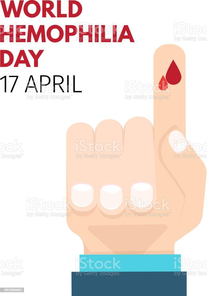 World Hemophilia Day векторная иллюстрация