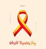World Hepatitis Day card. 28 July. Vector illustration. EPS10