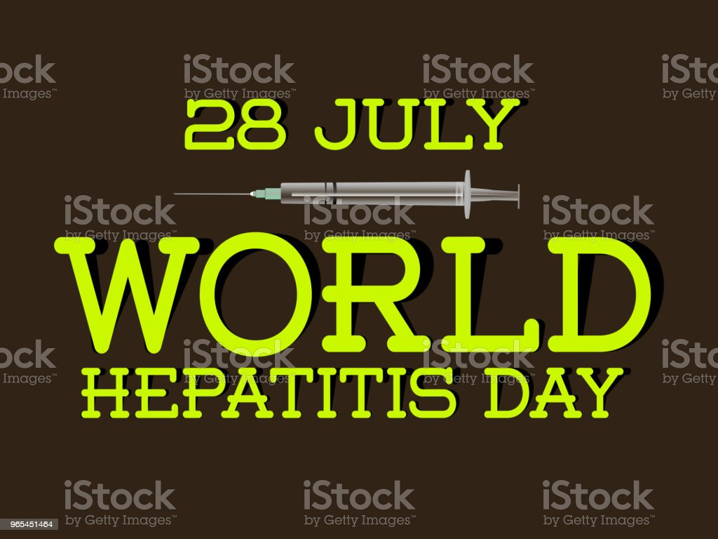 World Hepatitis Day world hepatitis day - stockowe grafiki wektorowe i więcej obrazów anatomia człowieka royalty-free