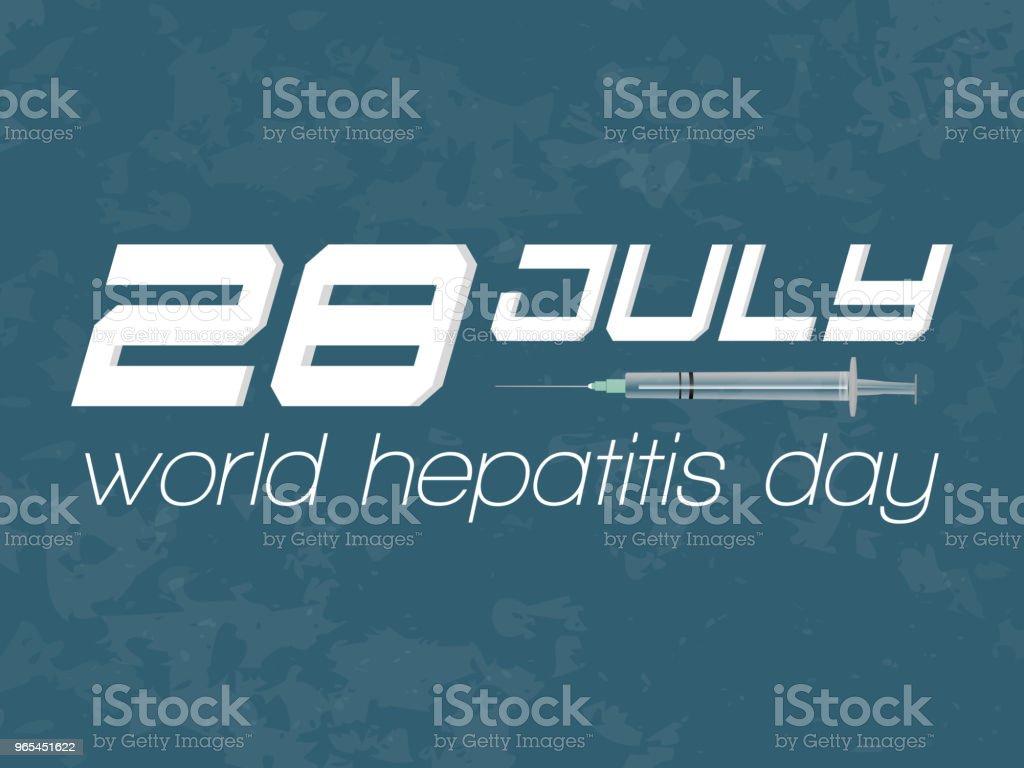 World Hepatitis Day - Grafika wektorowa royalty-free (Anatomia człowieka)