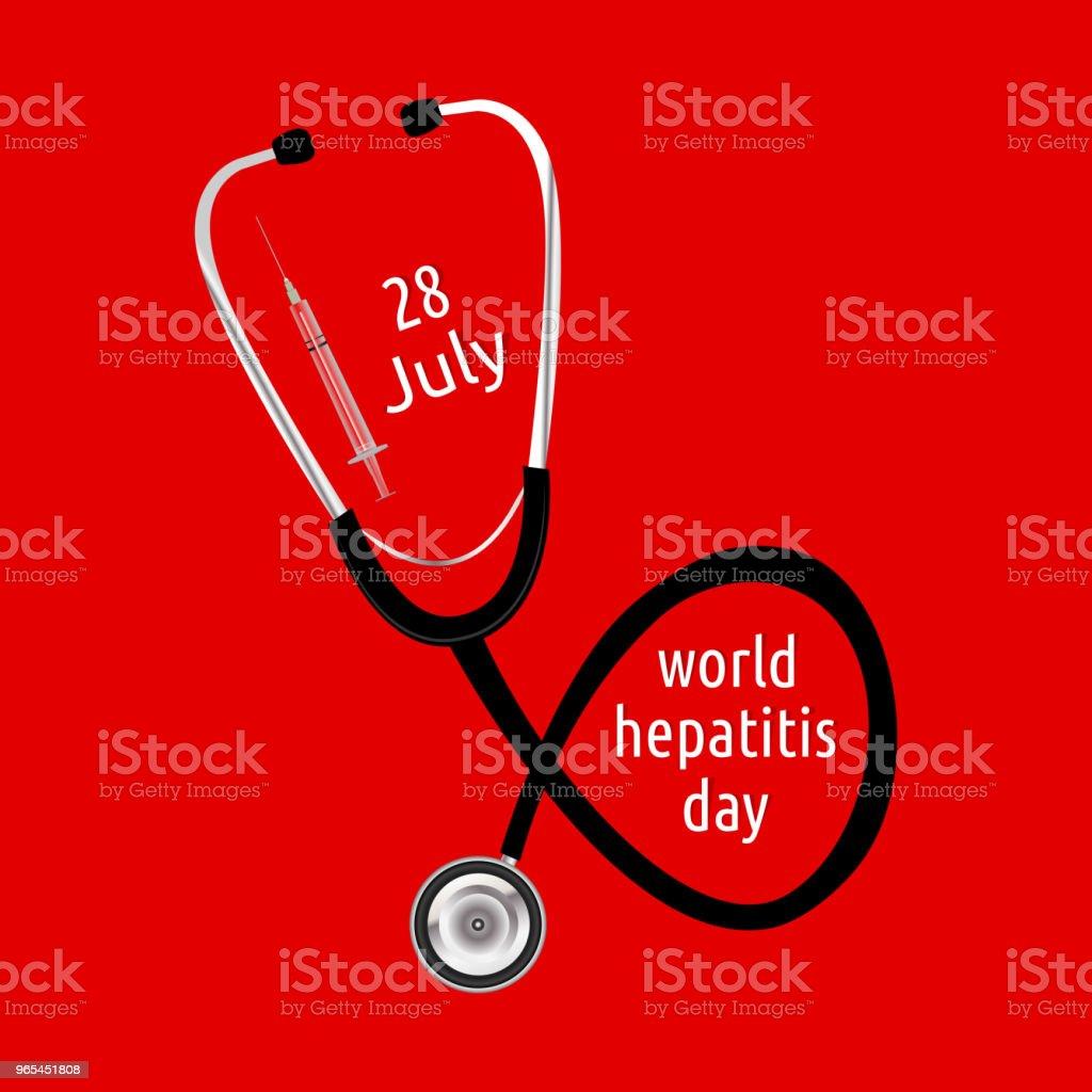 World Hepatitis Day royalty-free world hepatitis day stock illustration - download image now
