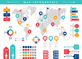 World infographic. Business presentation people population vector infographic template. Illustration of business population infographic, statistic information