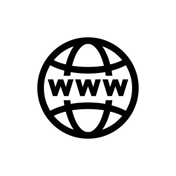 World internet on grid vector icon World internet on grid vector icon web address stock illustrations
