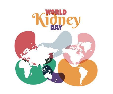 World Kidney Day poster vector