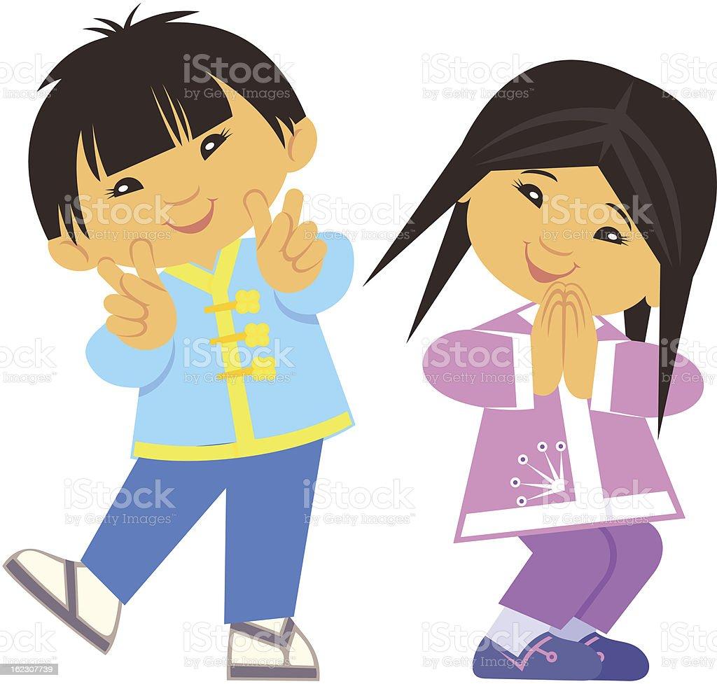 World kids - Asia royalty-free stock vector art