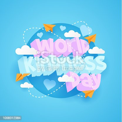 World Kindness day creative poster with 3d text