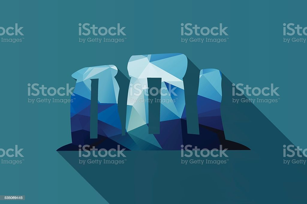 World landmark, Stonehenge, English country, Wiltshire, UK, Europe, vector illustration vector art illustration