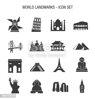 Vector of World Landmarks Icon Set
