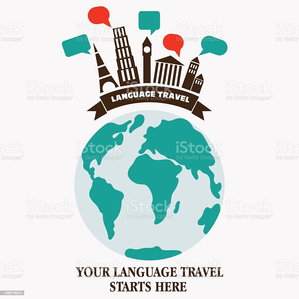 World landmarks with speech bubbles famous monuments and world map world landmarks with speech bubbles famous monuments and world map royalty free world landmarks gumiabroncs Images